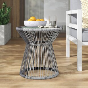 Lindholm Glass Side Table by Mercury Row