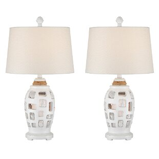 Resendez Shell Coastal 25 Table Lamp (Set Of 2) by Breakwater Bay Great Reviews