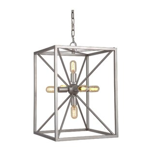 Affordable Price Aguirre 6-Light Square/Rectangle Chandelier By Brayden Studio