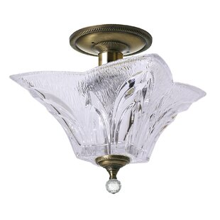 Lattimer 2-Light Semi Flush Mount by Astoria Grand