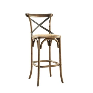 Bentwood Bar Stool with Metal Back (Set of 2) Furniture Classics
