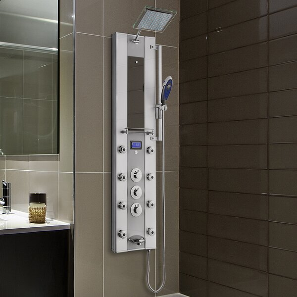 AKDY Thermostatic Tower Rainfall Shower Diverter & Reviews | Wayfair
