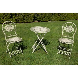 Elkville 3 Piece Bistro Set by Fleur De Lis Living New
