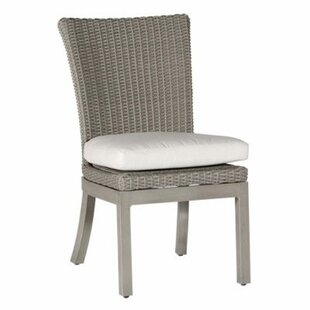 Rustic Patio Dining Chair with Cushion