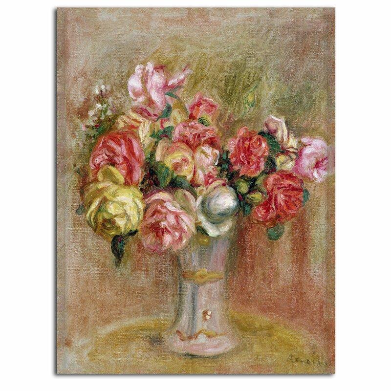 Trademark Art Roses In A Sevres Vase By Pierre Auguste Renoir