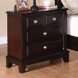 Holzman 3 Drawer Nightstand