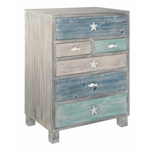 Harrigan Nautical 6 Drawer Accent Chest by Highland Dunes