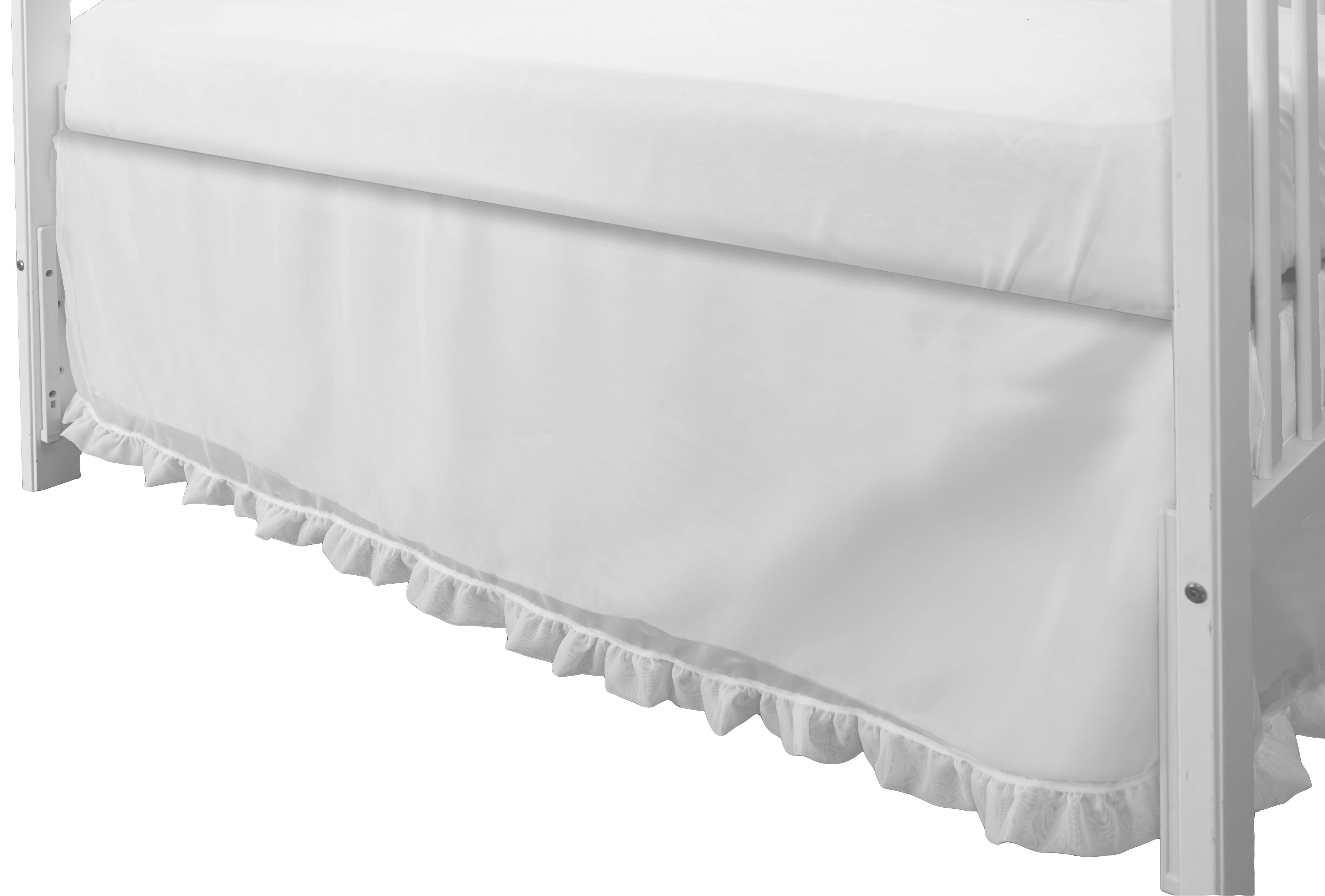 Burgundy Crib Bed Skirt Split Corner Dust Ruffle 100 Cotton Nursery Crib Toddler Bedding Skirt For Baby Boys Or Girls 14 Drop Baby Bedding Bed Skirts