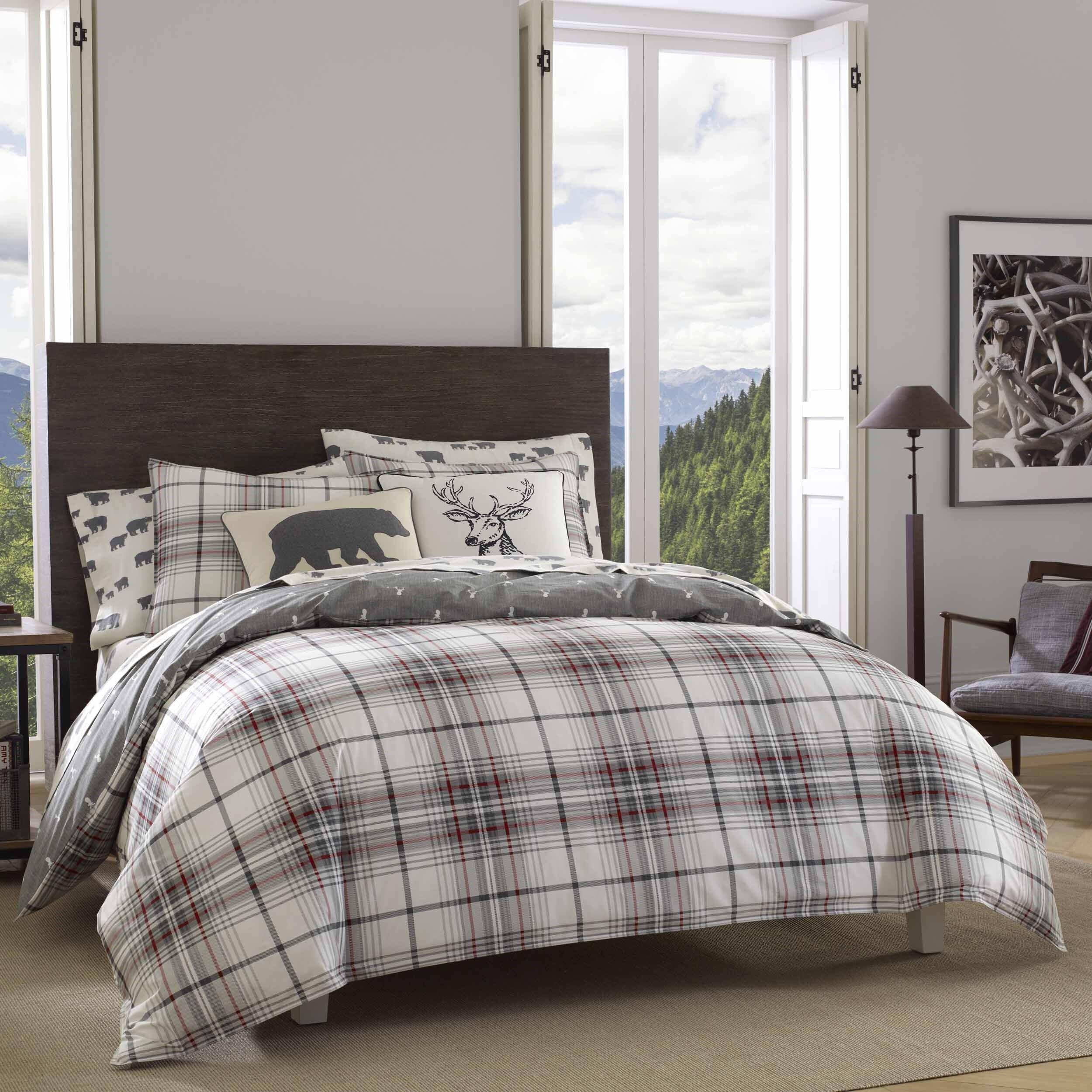 Eddie Bauer Alder Plaid Reversible Comforter Set Reviews Wayfair