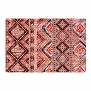 Victoria Krupp Native American Art Ilration Pink Orange Area Rug