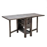 Acheritou Acacia Extendable Solid Wood Dining Table by Gracie Oaks