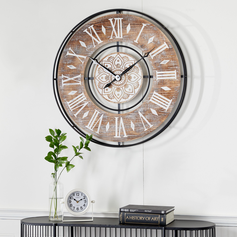 Dakota Fields Oversized 34 Wall Clock Wayfair