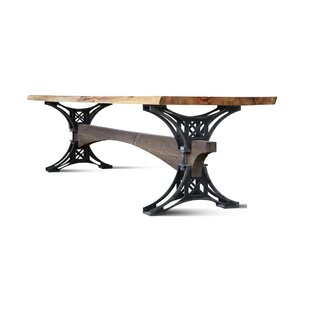 17 Stories Mairead Solid Wood Dining Table
