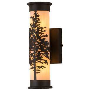 Compare prices Wylie 2-Light Outdoor Sconce By Loon Peak