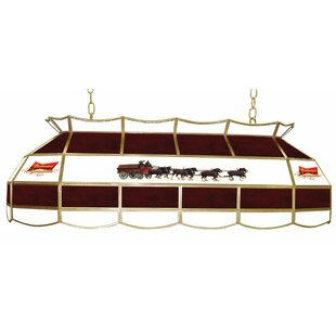 Trademark Global Budweiser Clydesdale 2-Light Tiffany Billiard Light