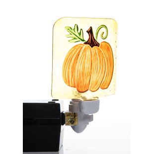 August Grove Percy Harvest Turkey and Pumpkin Night Light