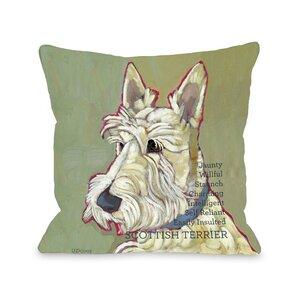 Doggy Du00e9cor Scottish Terrier Throw Pillow