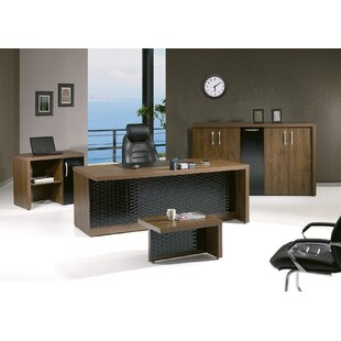 Brayden Studio Puccio Modern Desk Office Suite (Set of 4)