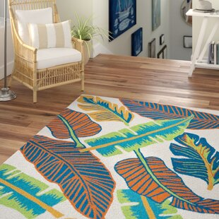 Mako Hand-Tufted Green/Blue/Orange Indoor/Outdoor Area Rug