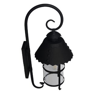Darby Home Co Sellersburg 1-Light Fire Black Outdoor Wall Lantern