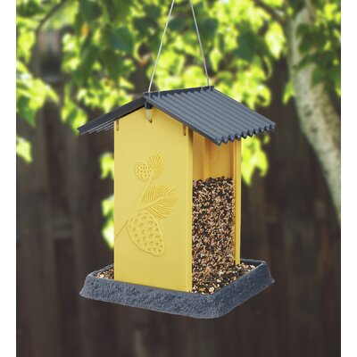 North States Pinecone Hopper Bird Feeder (Set of 2) Colour: Yellow