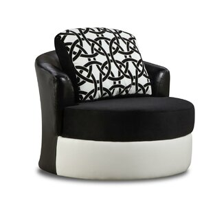 Koyande Swivel Barrel Chair by Latitude Run