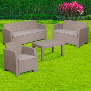 Resnick 4 Piece Sofa Set with Cushions