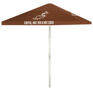 Coffee 6' Square Market Umbrella