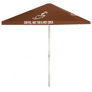 Coffee 6' Square Market Umbrella