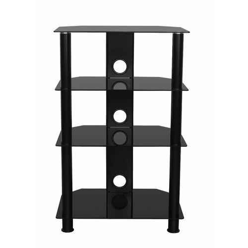 HiFi-Rack | Wohnzimmer > TV-HiFi-Möbel > HiFi-Racks | Schwarz/schwarz | Aluminium | ClearAmbient