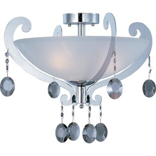 Ryanne 3-Light Semi-Flush Mount by Rosdorf Park