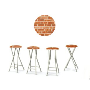 Boston Brick 30'' Patio Bar Stool with Cushion (Set of 4)