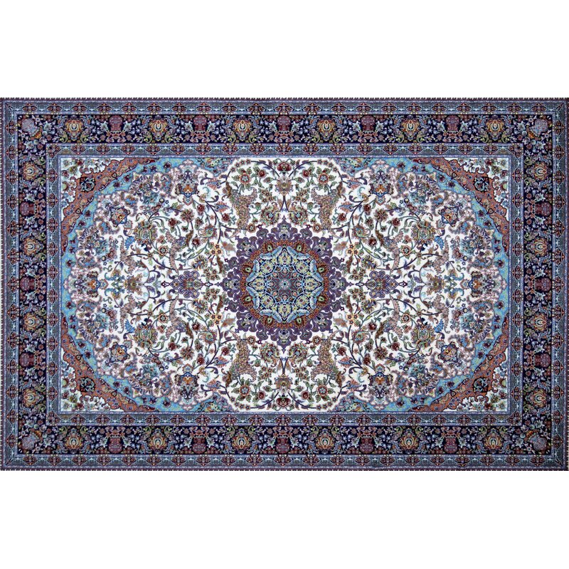 Astoria Grand Mouser Hand Look Persian Wool Ivory Red Blue Area Rug Wayfair