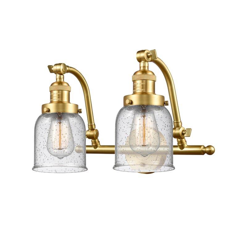Williston Forge Bonomo Bell 2 Light Vanity Light Wayfair