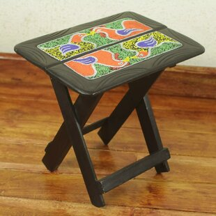 Birds in a Box Beaded Folding End Table by Novica