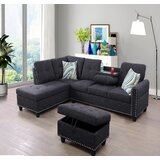 Cardoon 104 Reversible Sectional with Ottoman by Winston Porter