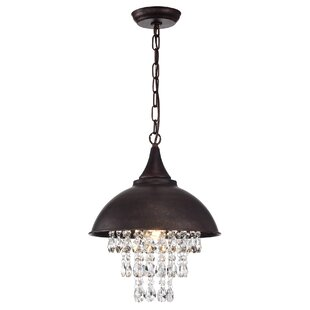 House of Hampton Leisha 1-Light Dome Pendant