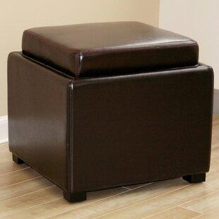 Leather Storage Ottomans Youu0027ll Love | Wayfair