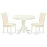 Byrone 3 Piece Solid Wood Dining Set by Winston Porter