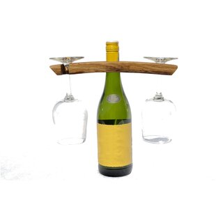 Rishel Butler 1 Bottle Tabletop Wine Bottle and Glass Rack