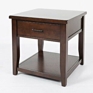 Munch Wooden End Table with Storage