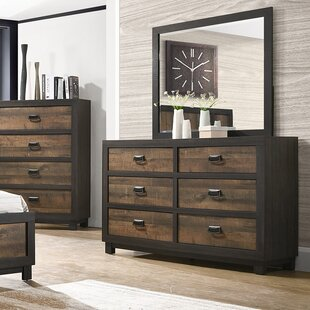 Llewellyn 6 Drawer Double Dresser with Mirror by Gracie Oaks