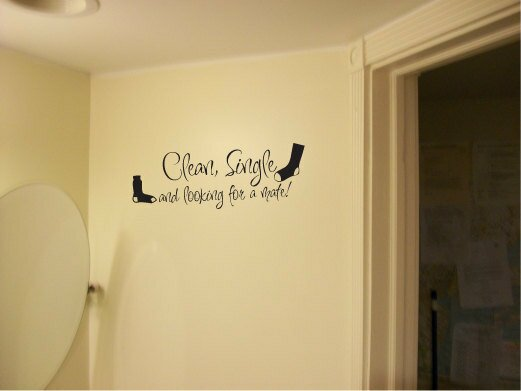 Clean single looking for mate vinyl laundry wall sticker decor fun ...