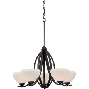 Plaistow 5-Light Shaded Chandelier by Winston Porter