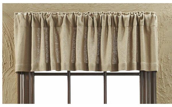 Roxane Burlap Natural Curtain Valance U0026 Reviews   Wayfair