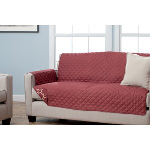Scroll Box Cushion Sofa Slipcover by A..