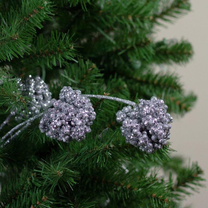 Northlight 32 Silver Sequin Artificial Allium Christmas Spray Wayfair