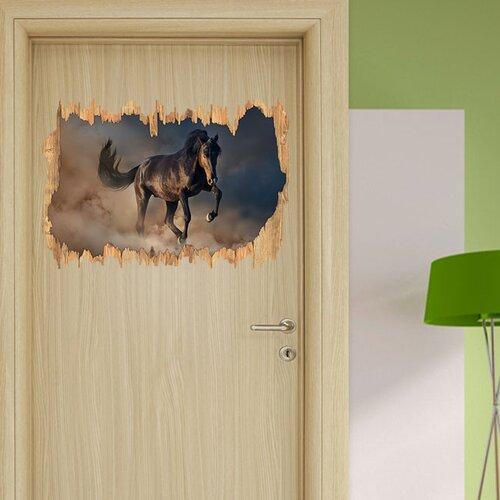 Wandtattoo Schwarzes Pferd East Urban Home | Dekoration > Wandtattoos | East Urban Home