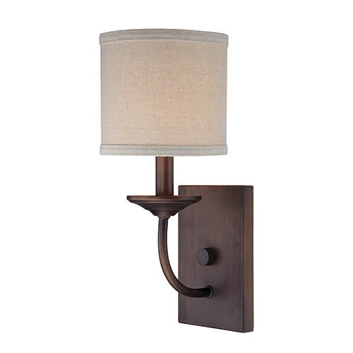 Steuben Rubbed Bronze 1-Light Candle Sconce