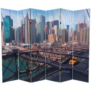 East Urban Home New York Taxi 6 Panel Room Divider